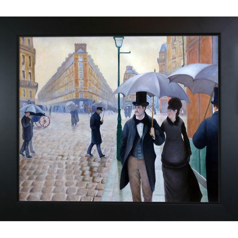 La Pastiche Gustave Caillebotte A Paris Street, Rainy Day Hand