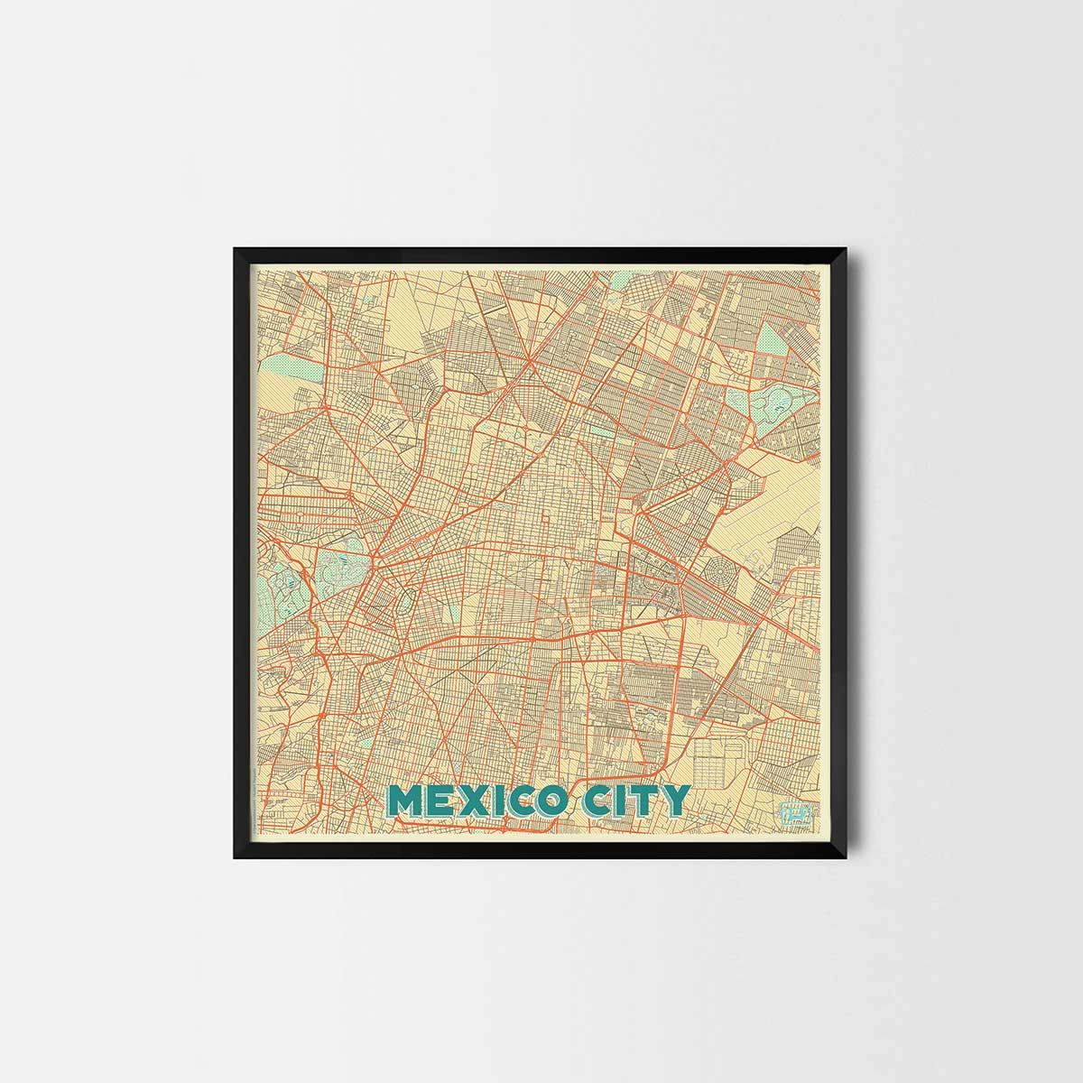Mexico City Prints - City Art Posters and Map Prints | Cool houses ...