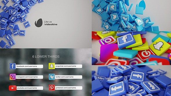 Social Media Pack 3D 19945507 - Free After Effects Templates - Free ...