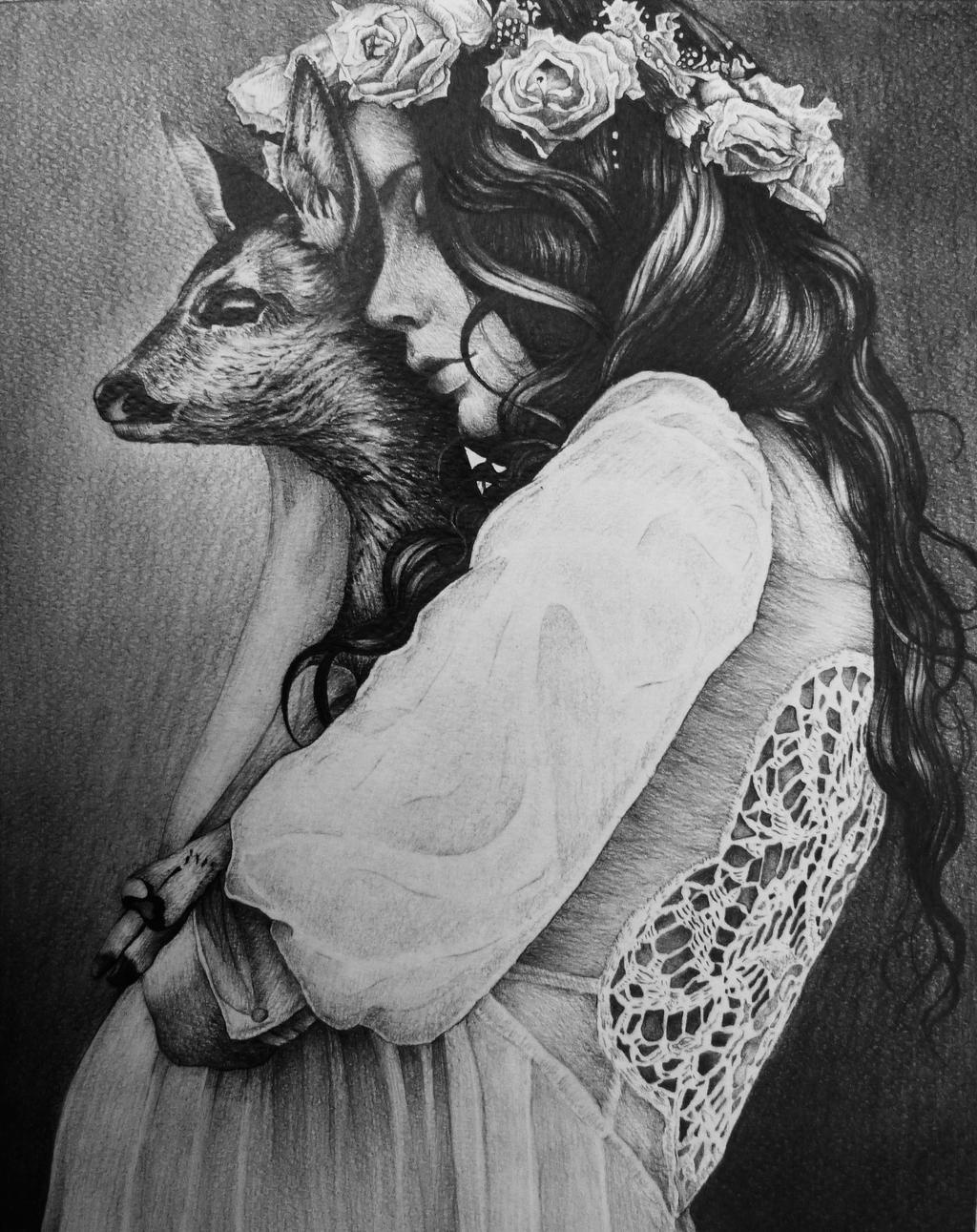 Pin by Me on Art | Deer illustration, Deer drawing, Deer