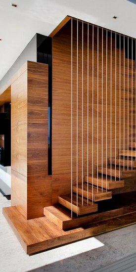 Moderne Kragarmtreppe Mit Harfengelander Treppen Design Treppe