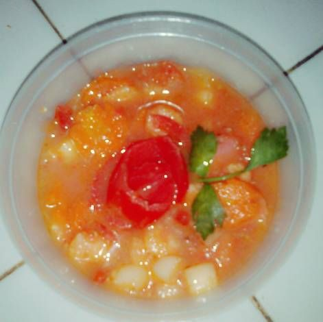 Resep Simple Tomato Soup Sup Tomat Sehat Non Msg Oleh Icha Annisa Septiana Resep Sup Tomat Tomat Resep