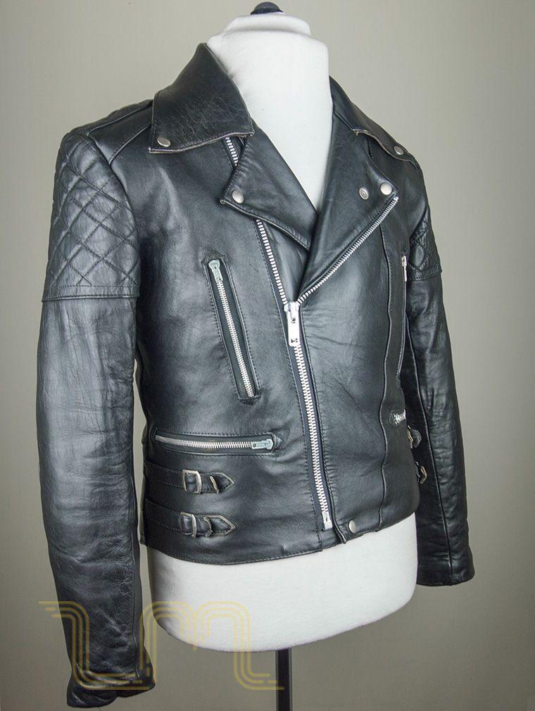 Vintage Lewis Leathers Nevada Black Leather Biker Jacket image four