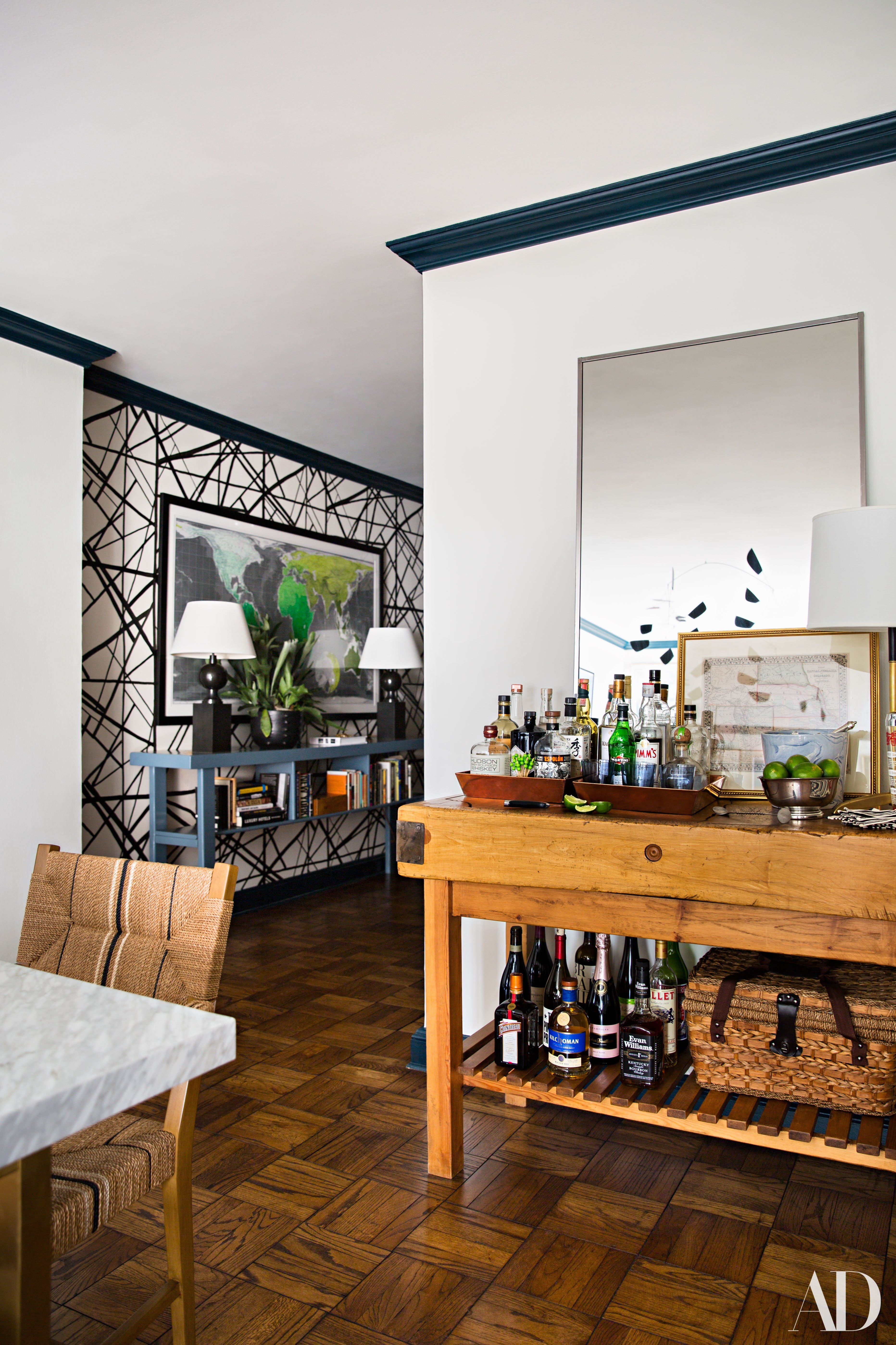 Modern hallway furniture ideas  A Classically Trained Design Team Goes Bold for a Bachelor Pad