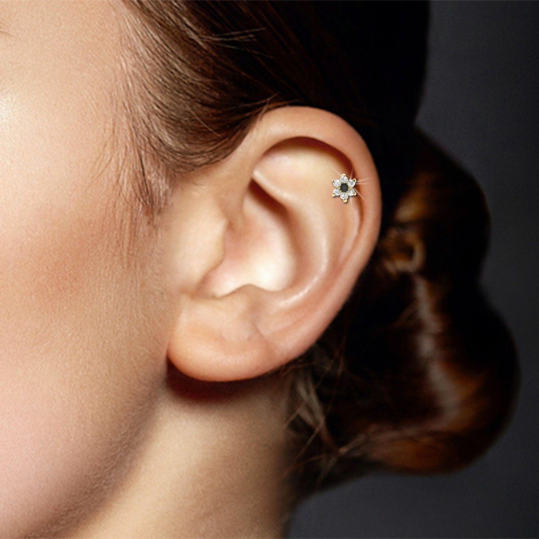 Piercing Helix Fleur En Or Jaune Piercings Piercings Tragus