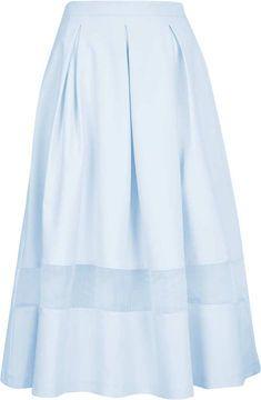 d0684ec76 Topshop Tall Organza Midi Skirt - ShopStyle Mid-length   Topshop ...