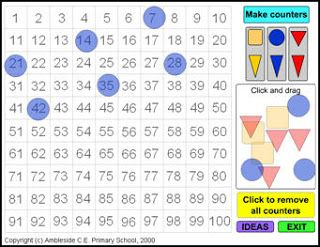 Technology for teachers  interactive hundreds chart also math rh pinterest