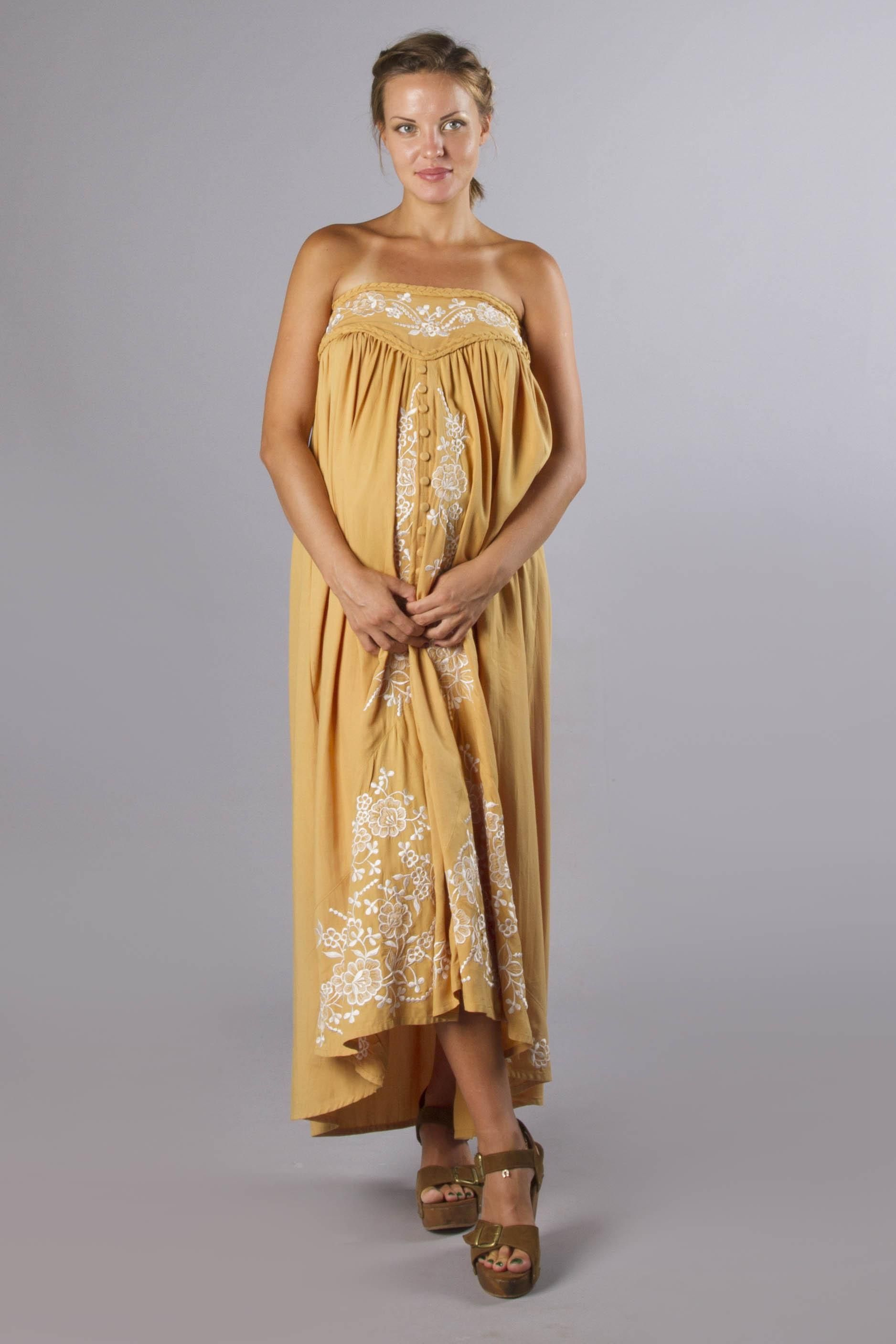 Abbey road maternity maxi skirt strapless dress gold with abbey road maternity maxi skirt strapless dress gold with floral embroidery fillyboo ombrellifo Image collections