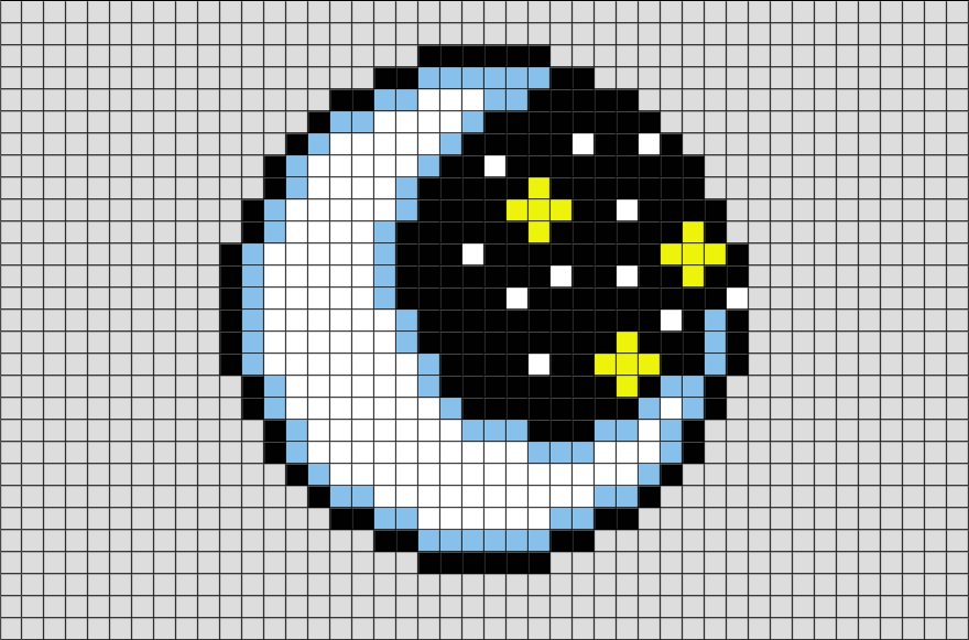 Moon Pixel Art Pixel Art Grid Pixel Art Pattern Pixel Art Templates