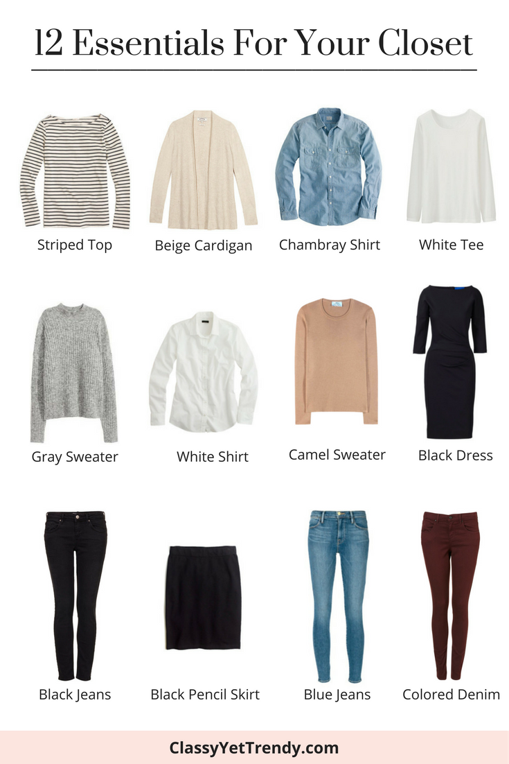 12 Essentials Every Woman Needs In Her Closet | Jean ...