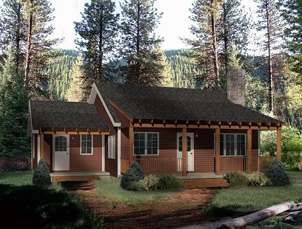 Country Style House Plan 49151 With 2 Bed 1 Bath Country Style House Plans Country House Plan Family House Plans