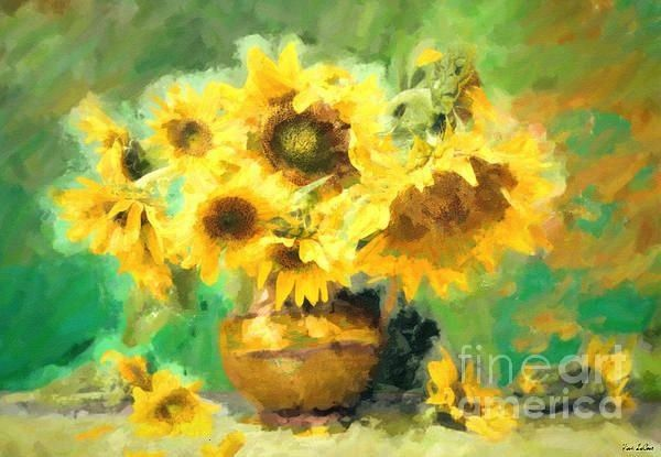 In A Vase by Tina LeCourSunflowers In A Vase by Tina LeCour Picnic by the Roadside Still Life Vase with Twelve Sunflowers  Vincent Van Gogh  oil painting Buy The painting...