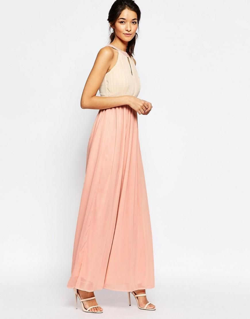 Club L Chiffon Maxi Dress With Keyhole And Pleat Detail | Pinterest ...