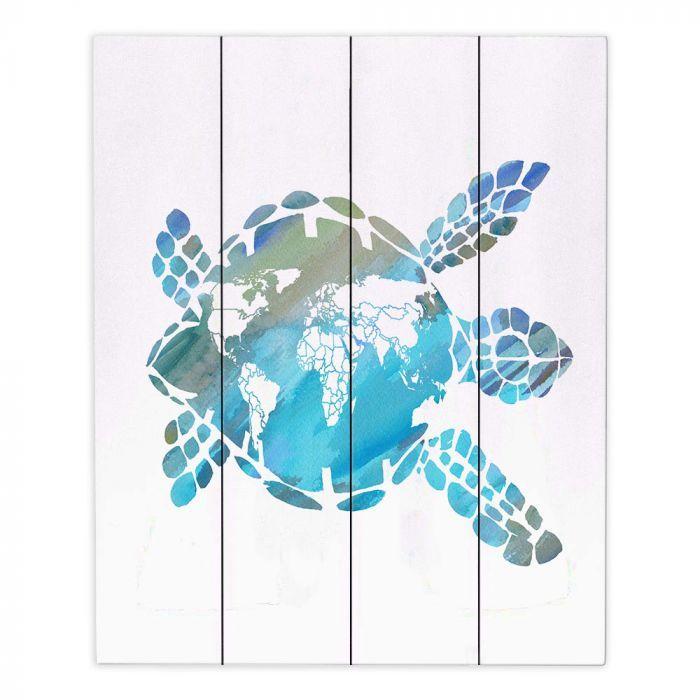 Sea Turtle /& Map Wood Wall Nautical Decor!