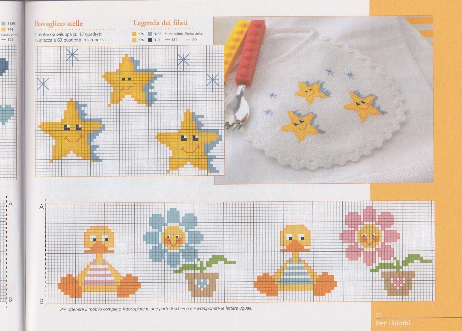 Risultati immagini per lenzuolini neonato for Punto croce immagini