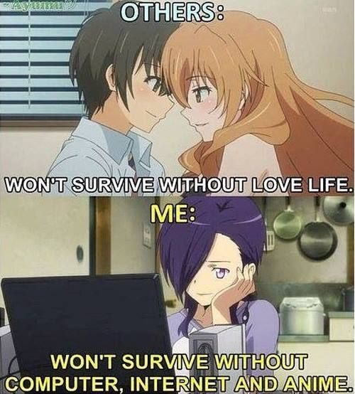 Otaku Can T Survive Without Internet Anime Funny Anime Funny Anime Memes Funny Otaku Anime