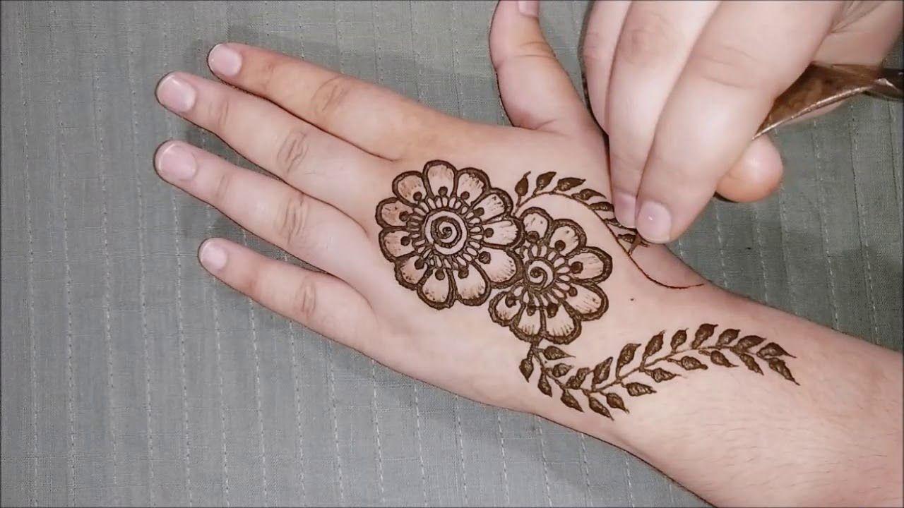 Eid 2019 Special Hand Mehndi Design Simple Flower Mehndi Design Mehn Henna Tangan Tato Henna Henna