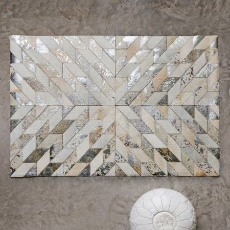 Starburst Patchwork Cowhide Rug View All Rugs By