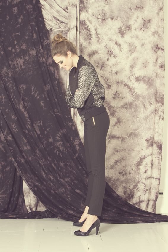 Outfit from the Nümph Party 2014 Collection. 7714180 Signe Silver Jacket together with 7714643 Karen Pants