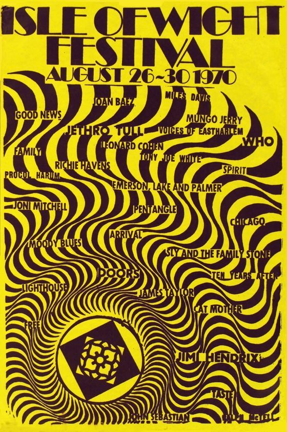 Concert poster for Isle of Wight Festival, 1970. UK. Source