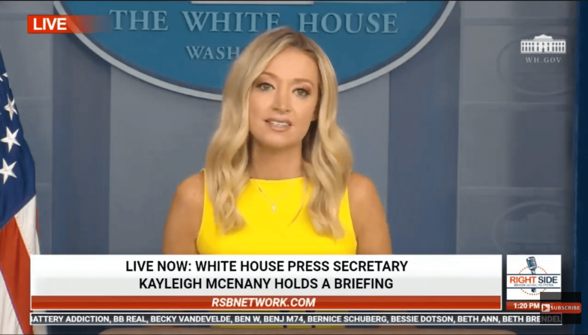 Live White House Press Secretary Kayleigh Mcenany Holds A Press Briefing 8 10 2020 In 2020 Kayleigh Mcenany House Wash Live In The Now