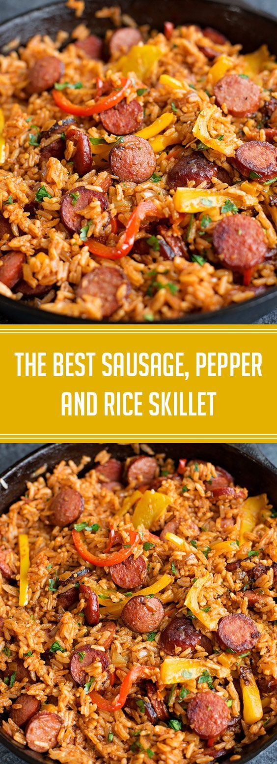 ★★★★★ 57 reviews: The Best Sausage, Pepper and Rice Skillet | Smoky ki...   - Yummy Dinners -