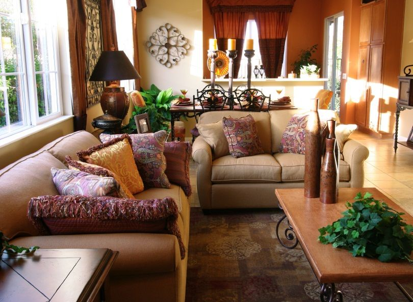 Asian Living Room Open Space Decorating Interior Decorating