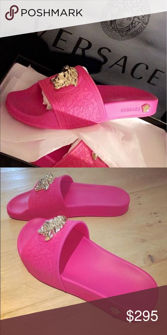 Versace slides pink Pink Versace slides