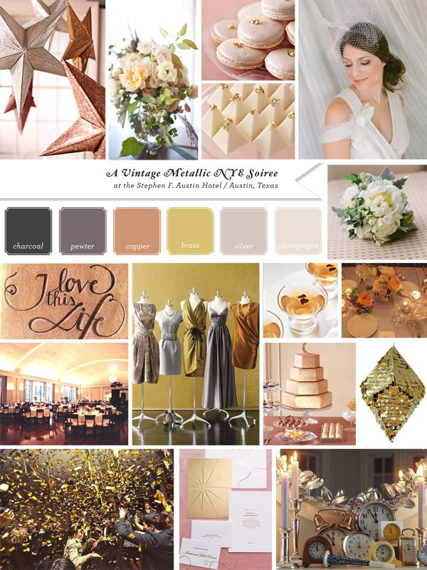Metallic Color Palette Rose Gold Silver Bling