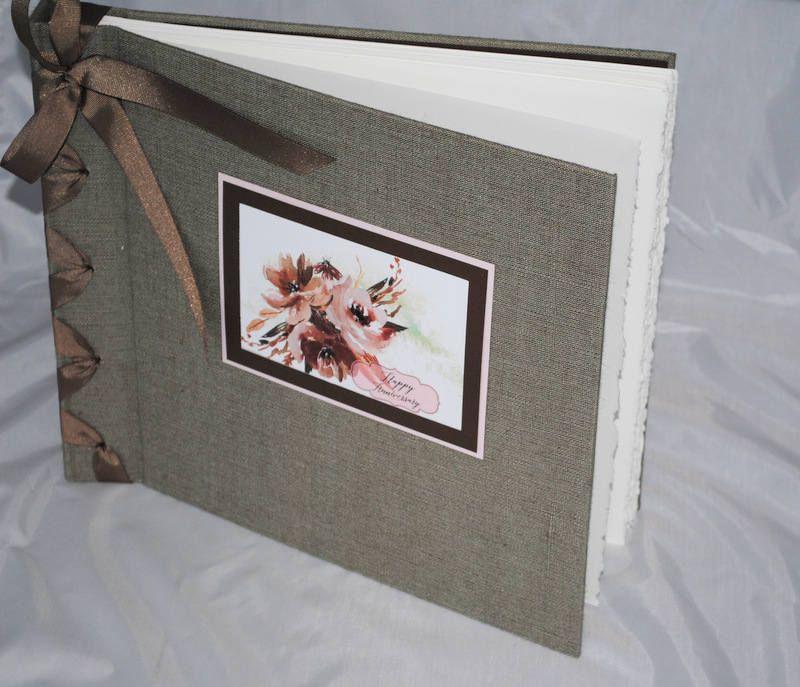 Photo, Scrapbook Style Album In Beautiful Linen Textured