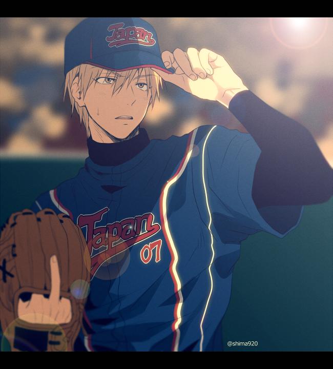 Kuroko no Basuke | Kise Ryouta | 黄瀬くん×野球(間違えてサウスポーにしてしまいました…!)