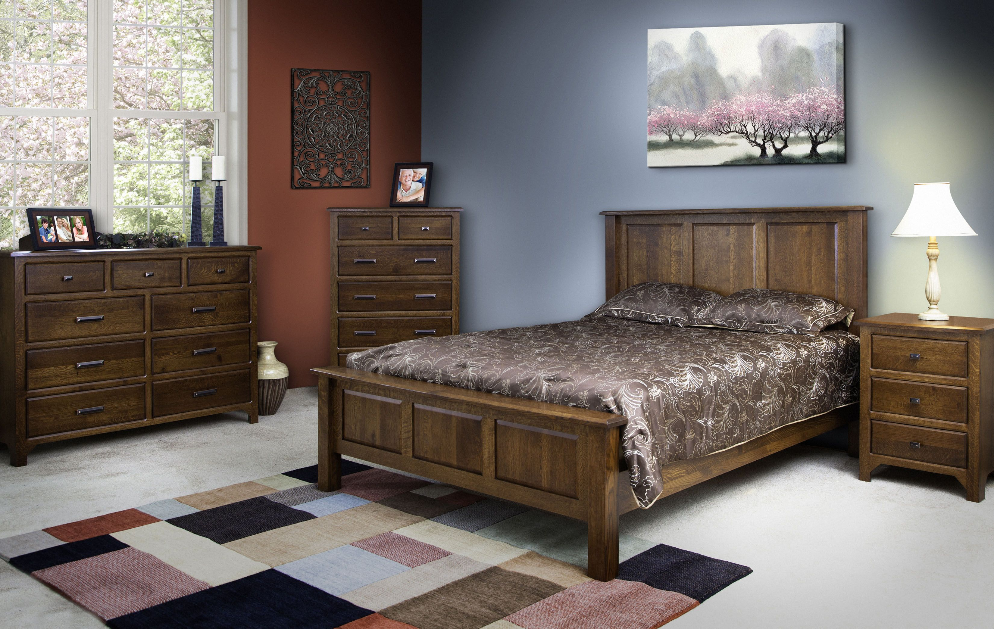 Our Mission Hills Vintage Bed Is A Testament To Genuine Amish Woodworking.  All Beds Are Handcrafted From Solid Hardwood In Your Selected Wood Species.
