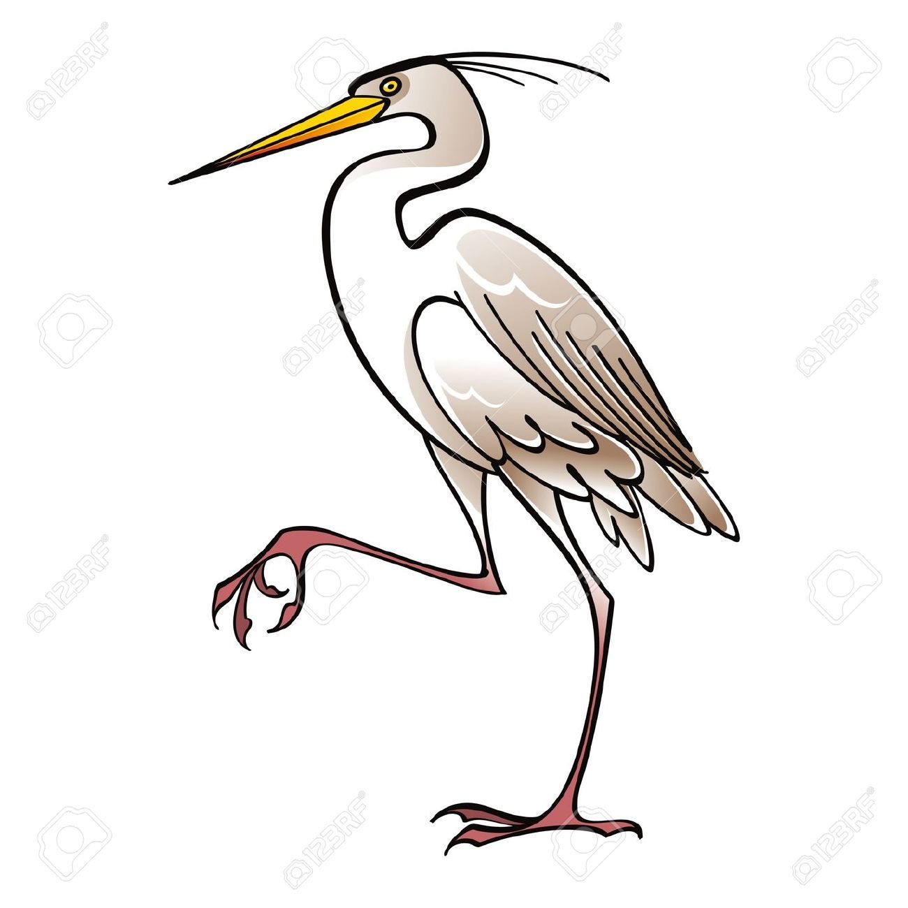 white crane bird clip art bird pinterest clip art drawing rh pinterest com hero clipart heron clipart free