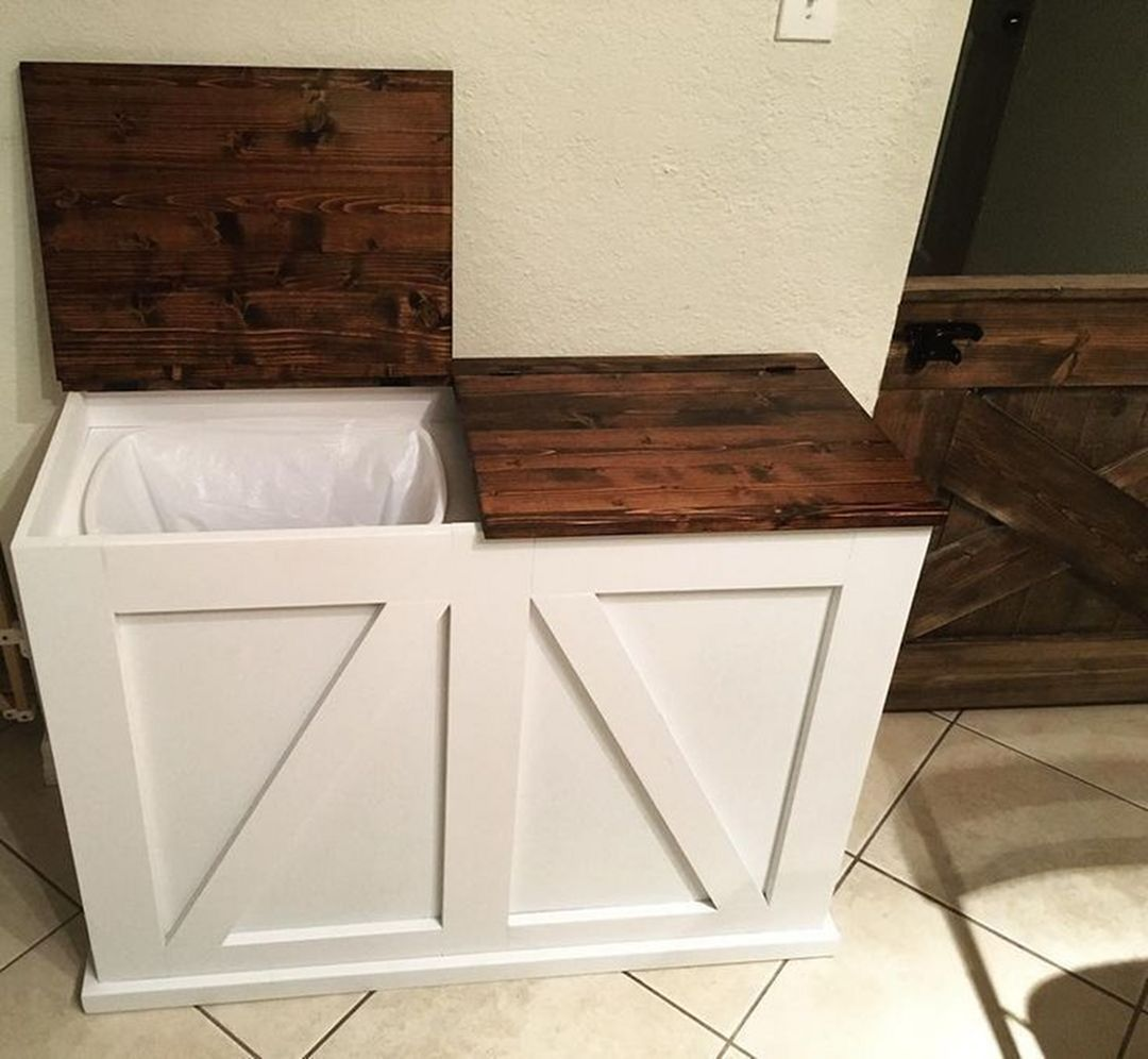 Rustic Trash Can Ideas 17150 Goodsgn Trash And Recycling Bin Bathroom Trash Can Recycle Trash