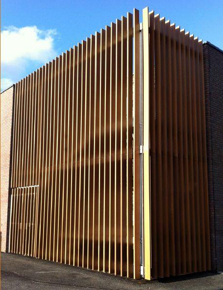 brise soleil en bois de fa ade medera timber solinear limited grill pinterest. Black Bedroom Furniture Sets. Home Design Ideas
