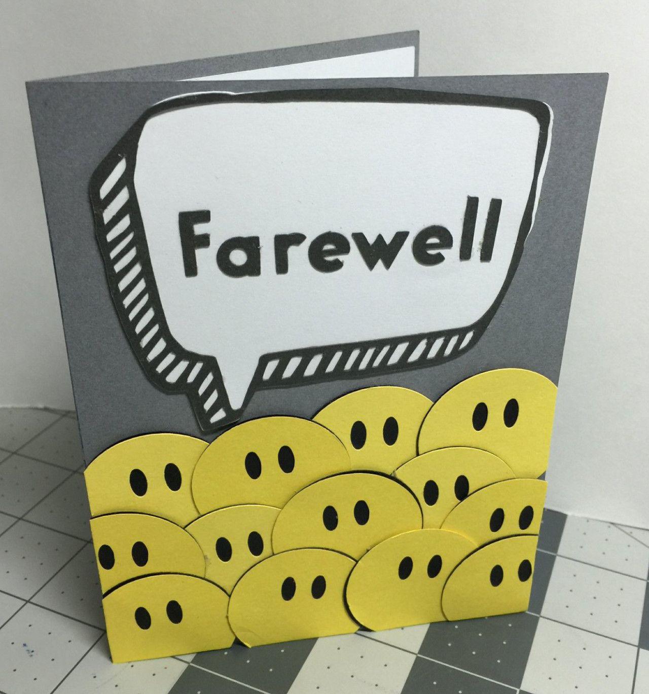 Farewell From Group Card | Farewell cards, Handmade ...