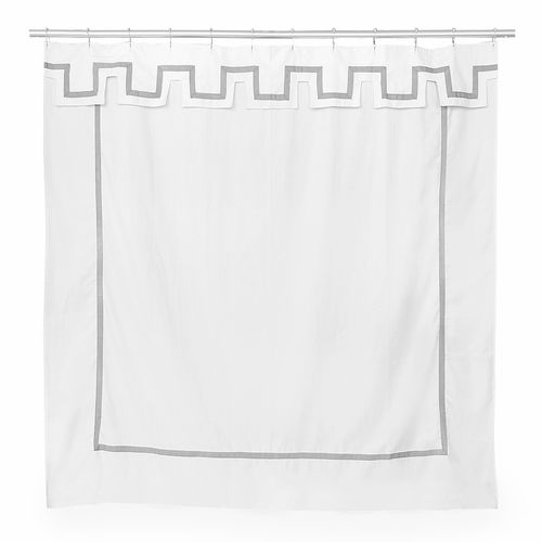 Jonathan Adler Santorini Grey Shower Curtain Modern Shower