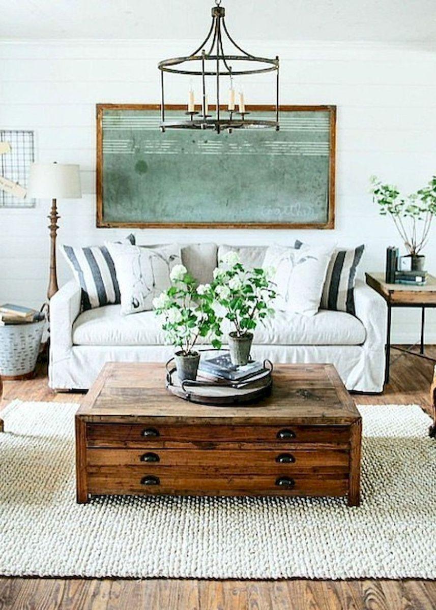 60 Cool Modern Farmhouse Living Room Decor Ideas (39