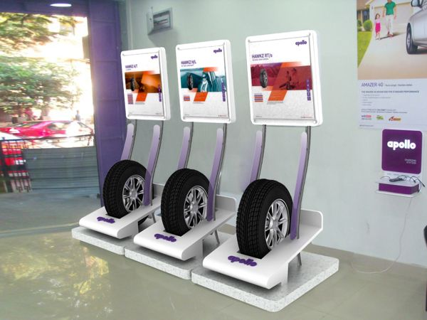 Car Show Tire Display Stands