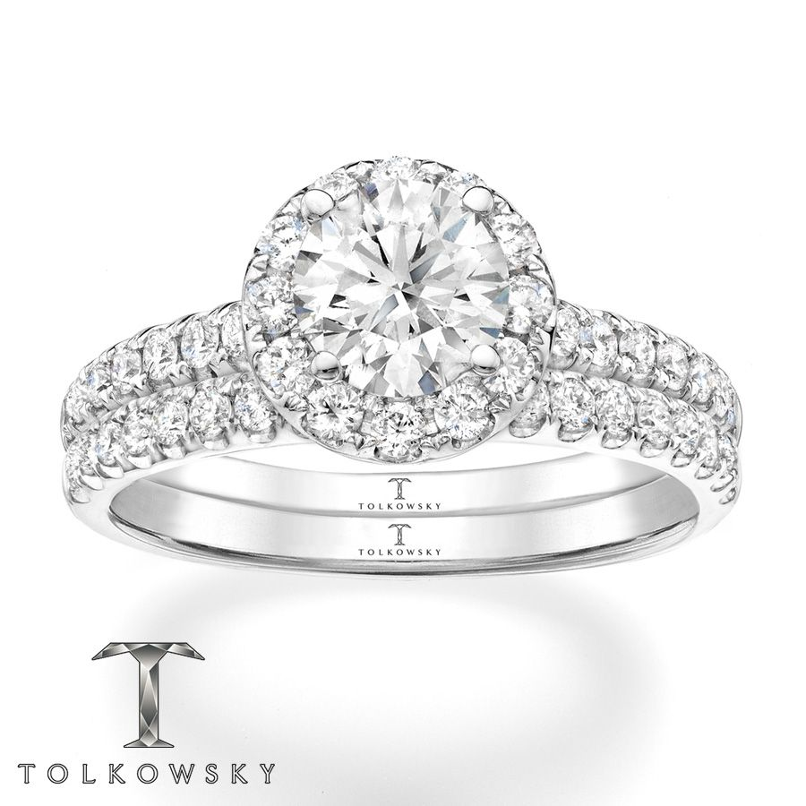8 Cts Tw Diamonds 14k White Gold Matching Wedding  Bandswedding Ringsmain Attractiondream