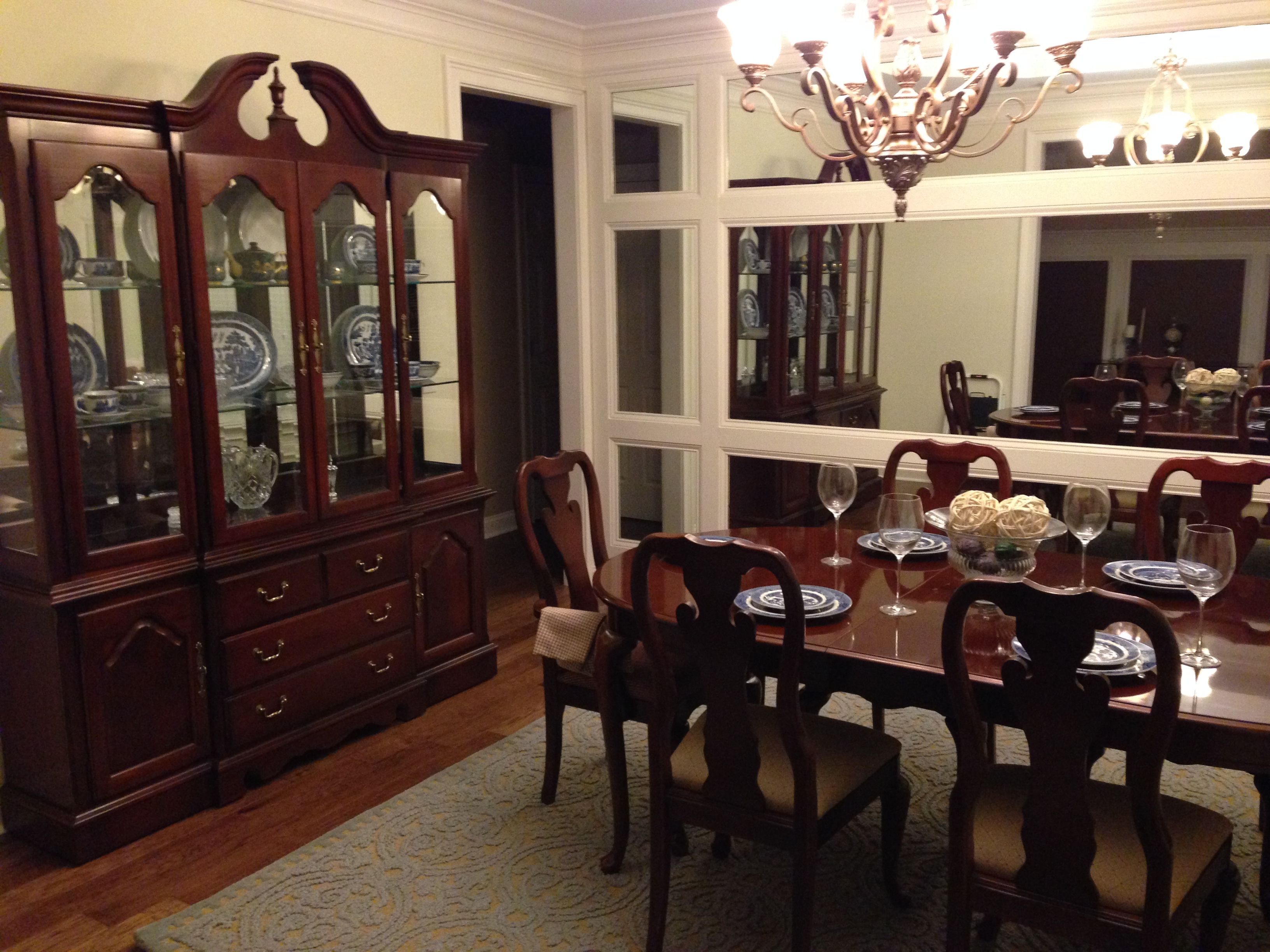 Craigslist Thomasville Dining Room Set  Blue Willow China  Love Extraordinary Thomasville Dining Room Chairs Inspiration