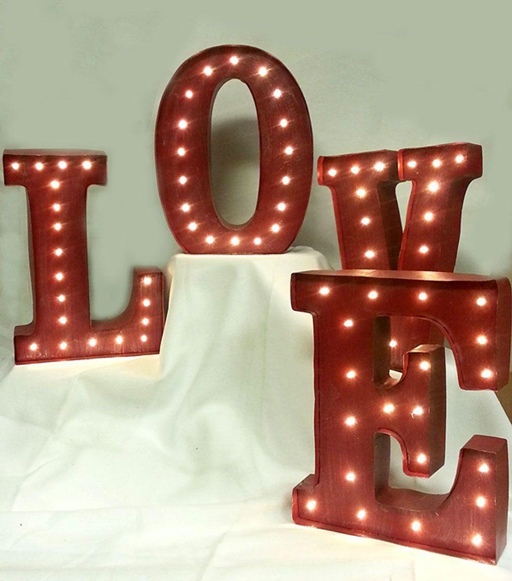 10 Inch Metal Letters Check Out The Deal On Led Lighted Wall Sign Battery Operated  10