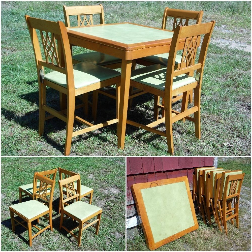 Coronet Folding Chairs How To Make Chair Pockets For The Classroom Vintage Mid Century Modern Norquist Table 4