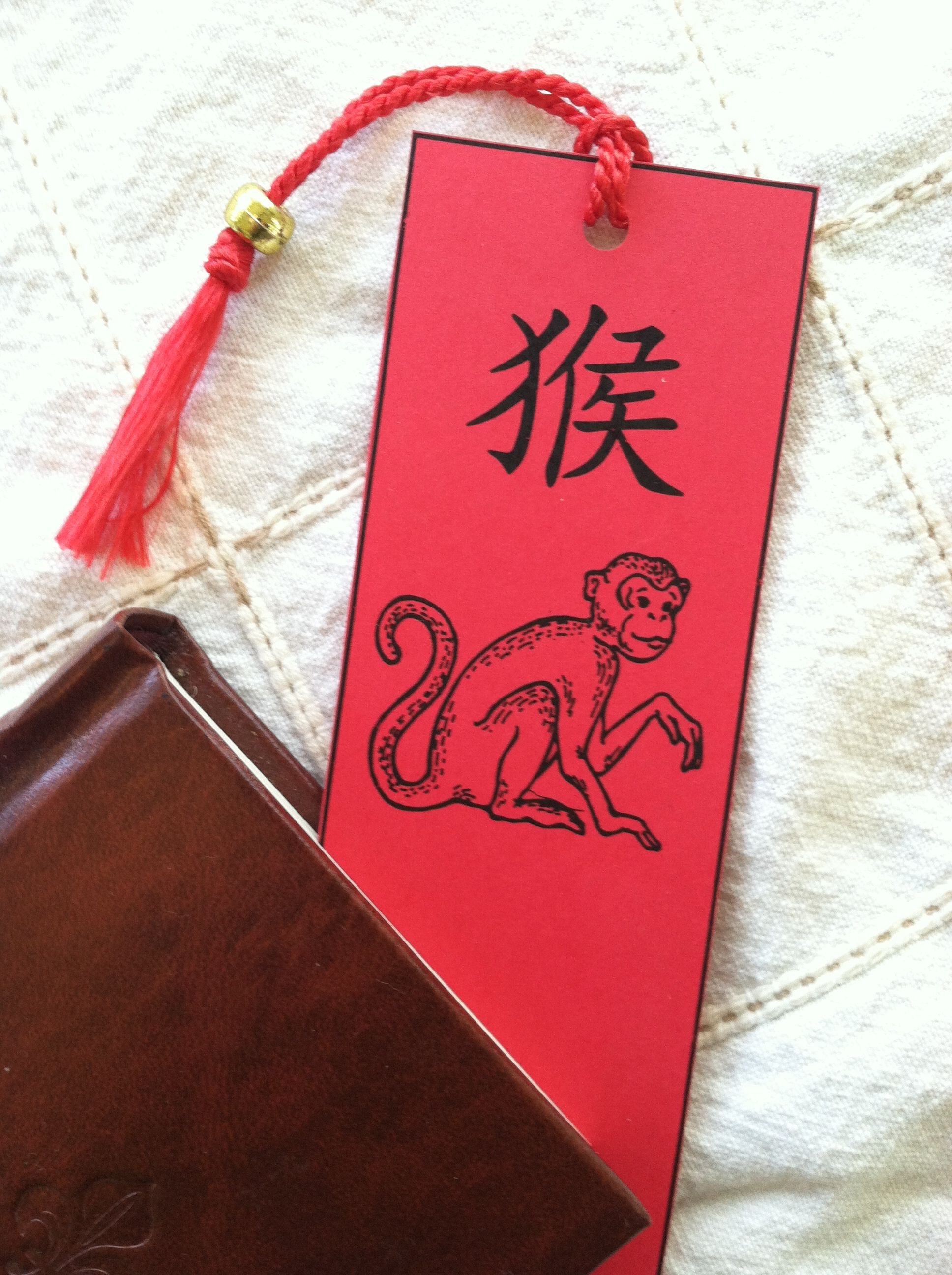 year of the monkey get free printable bookmark template for chinese new year at wwwluckybamboocraftscom