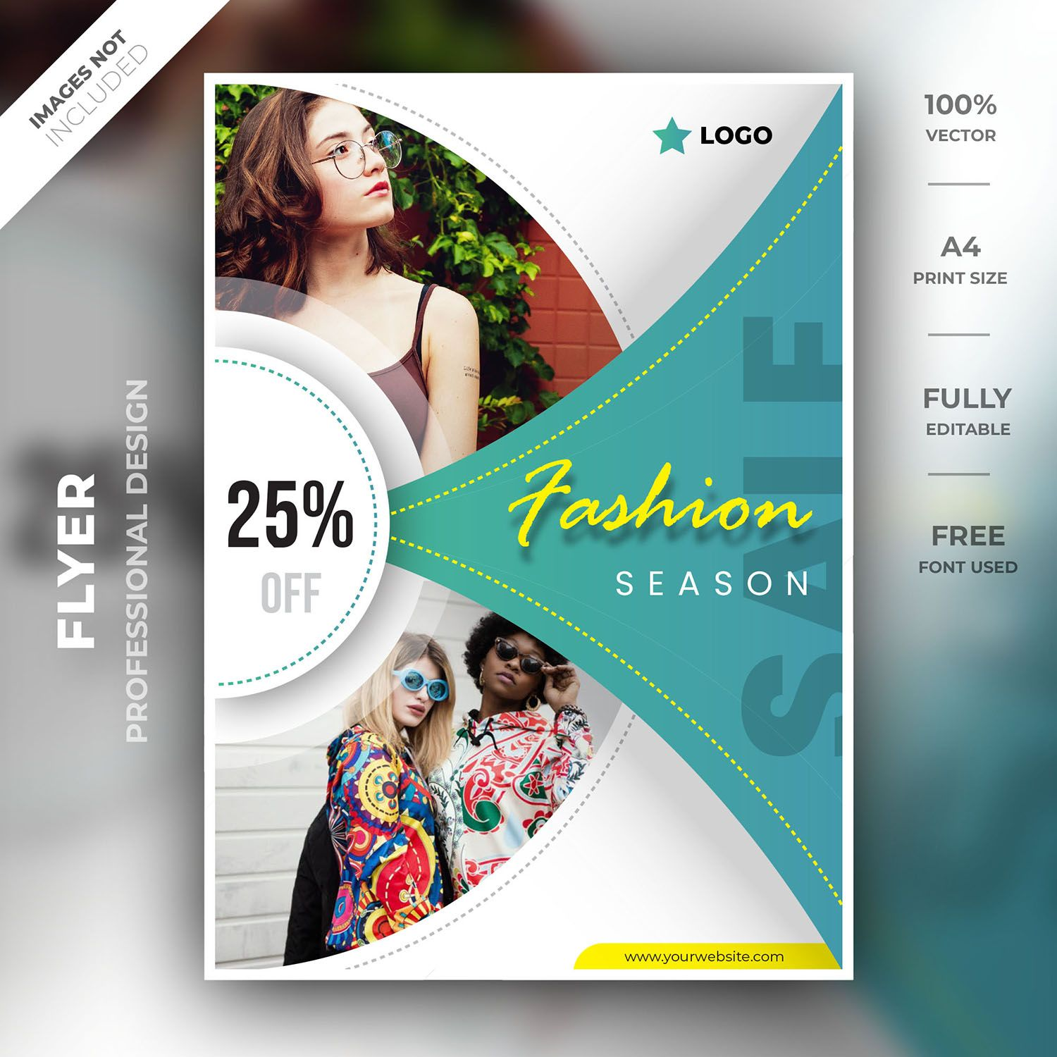 This Fashion Season Flyer Template Design Created By Professional Designer The Elegant Fashion Design Is In 2020 Brochure Design Template Flyer Design Flyer Template