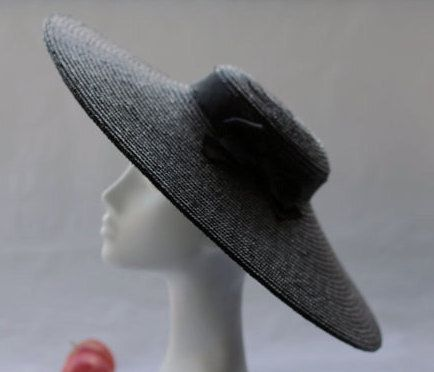 Black Paris Pancake Wide Brim Hat Oversized by AndTheyLovedHats