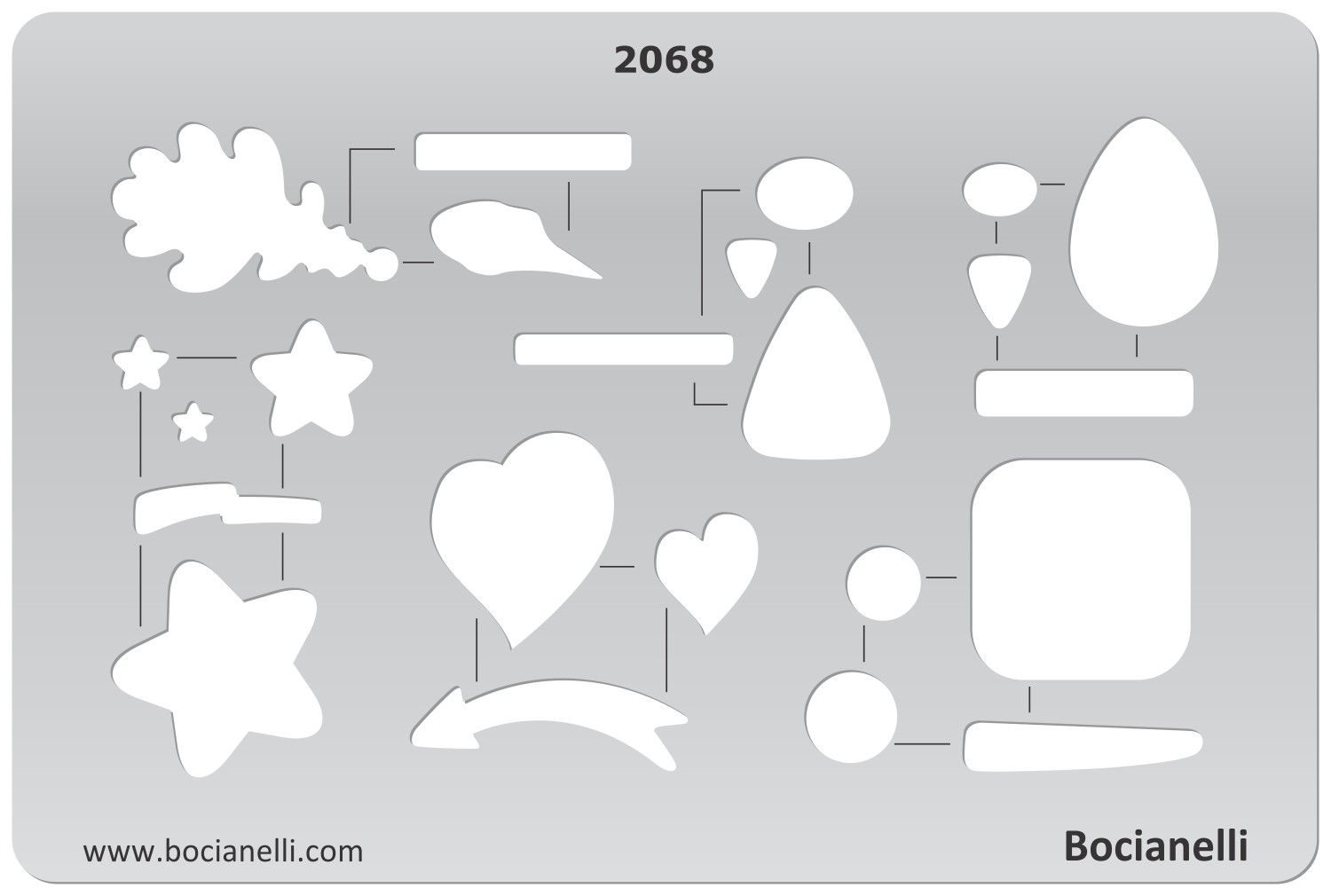 2068 Art and Craft Design Template Stencil for Jewellery Making