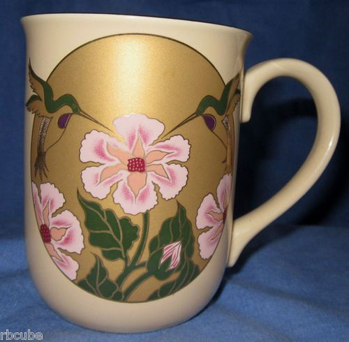 Otagiri Mug Cup Enchantment Design East Japan Hummingbird Floral Very Good | eBay