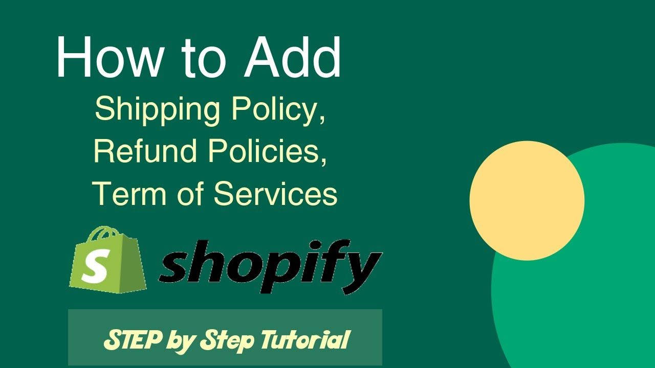 How to add privacy policy refund policy term of services