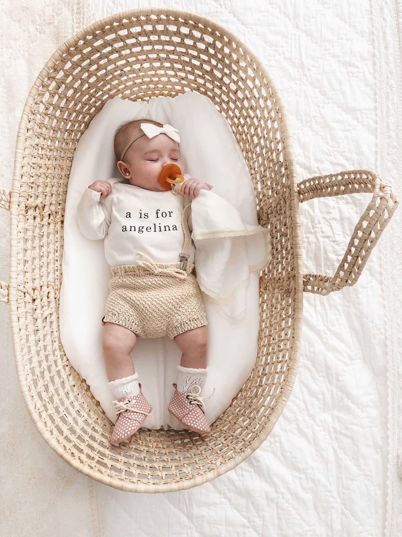 Letter and Name Onesie Baby Name Announcement Custom Name Onesie Gender Neutral   N is for Name Onesie